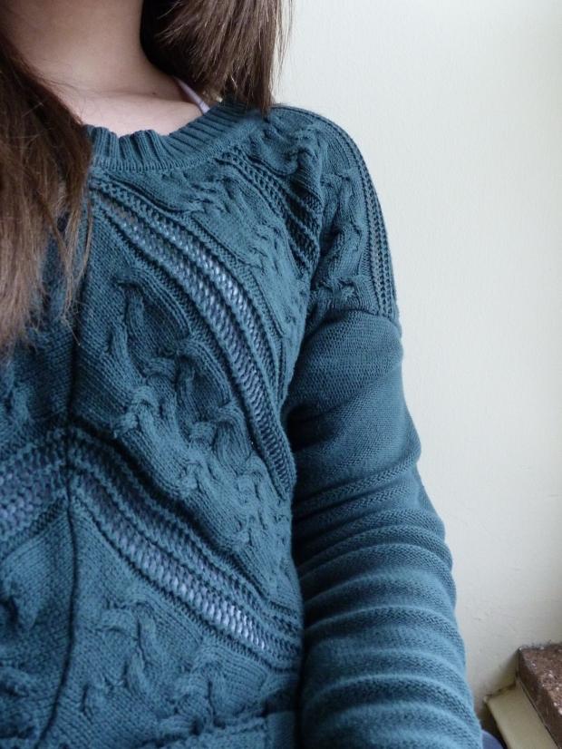 sweater émeraude Simons