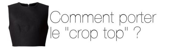 comment porter crop top