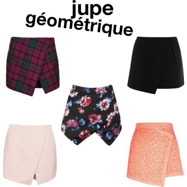 jupe asymétrique géométrique