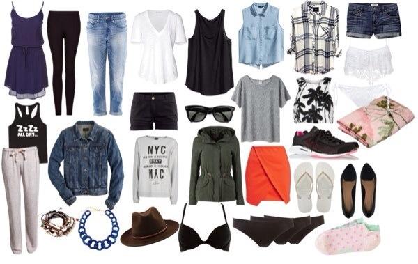 voyage vêtements sac