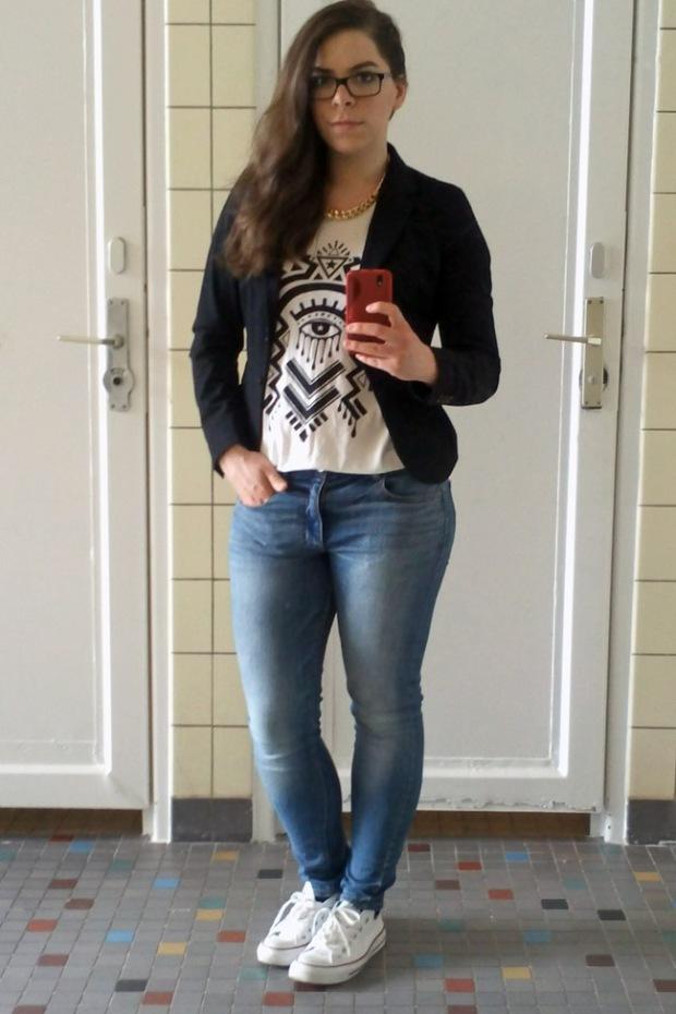 ootd jeans blazer